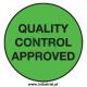 Etykiety kontroli jakości 64x34mm, zielone, 24szt. + zadruk