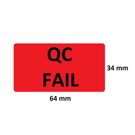 Etykiety kontroli jakości 64x34mm, czerwone, 24szt. + zadruk