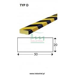 Odbojnik elastyczny profil ochronny Typ D 1mb