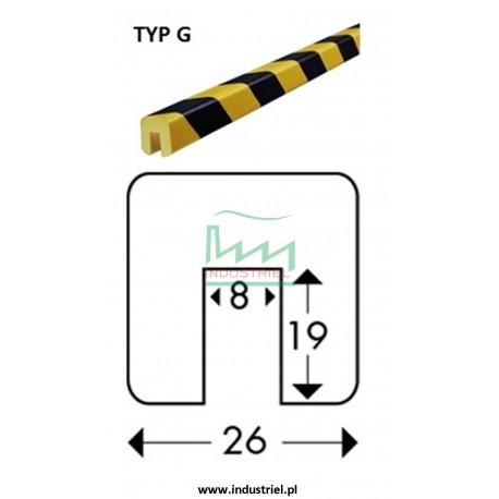 Odbojnik elastyczny profil ochronny Typ G 1mb