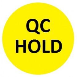 Etykiety kontroli jakości Ø10mm okrągłe żółte QC HOLD 315szt.