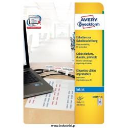 Etykiety do oznaczania kabli do drukarek atramentowych, 60 x 40 mm Avery Zweckform J8950-10