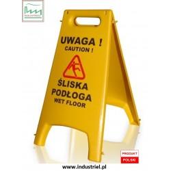 Tablica potykacz Uwaga śliska podłoga Caution wet floor