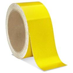 Taśma BHP samoprzylepna odblaskowa żółta o szer: 50mm i dł: 10mb