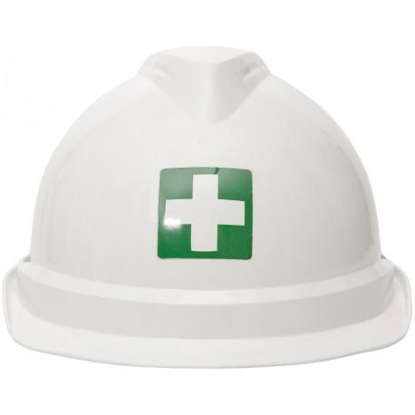 """Etykieta samoprzylepna do oznaczania na kasku """"Pierwsza pomoc"""""""