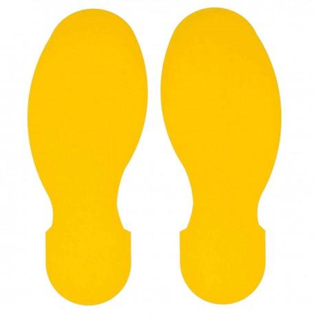 Brady 104409: Naklejka podłogowa stópki żółte 10 par