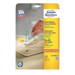 Etykiety usuwalne Avery Zweckform L4731REV-30 rozm. 25,4x10 mm 5670 etykiet