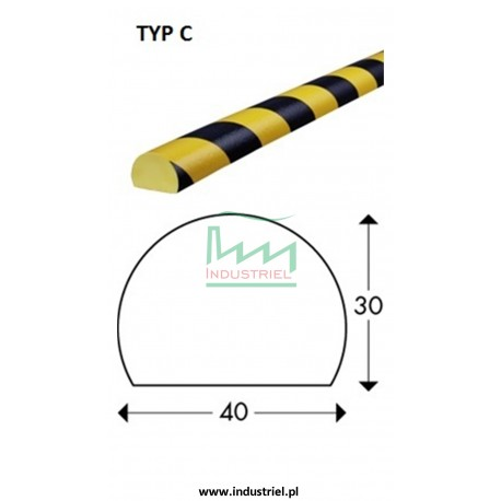Odbojnik elastyczny profil ochronny Typ C 1mb