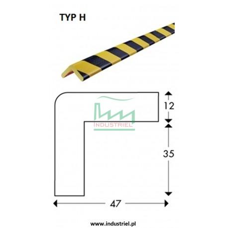 Odbojnik elastyczny profil ochronny Typ H 1mb