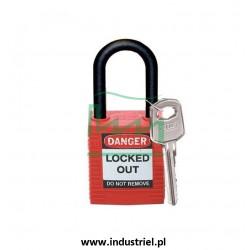 Kłódka Lockout BRADY 813594, czerwona, z nylonowym kabłąkiem 38mm