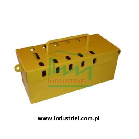 Skrzynka blokowania grupowego Lock-box żółta