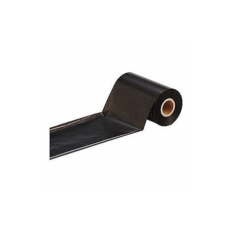 Kalka termotransferowa, czarna, woskowo-żywiczna, szer: 110mm x dł: 74m