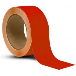 Taśma do oznaczania podłóg, samoprzylepna, czerwona o szer: 50mm i dł: 33m TDP-50x33-RD
