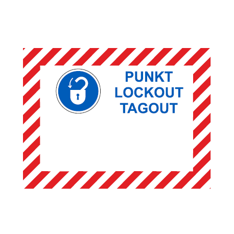 Tabliczka do oznaczania punktów Lockout-Tagout