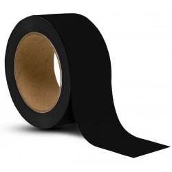 Taśma do oznaczania podłóg, samoprzylepna, czarna o szer: 50mm i dł: 33m
