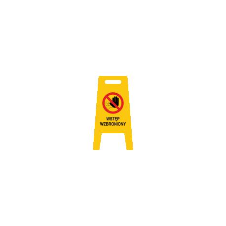 Tablica potykacz stojak WSTĘP WZBRONIONY