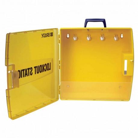 Stacja Lockout/Tagout, plastikowa szafka na sprzęt LOTO (pusta stacja)