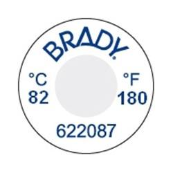 Etykiety reaktywne temperaturowo do 82°C średnica 13mm 60 naklejek