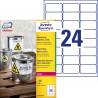 Etykiety Heavy Duty Avery Zweckform, A4, 100 ark./op., 63,5 x 33,9 mm, białe, poliestrowe