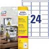 Etykiety Heavy Duty Avery Zweckform, A4, 20 ark./op., 63,5 x 33,9 mm, białe, poliestrowe