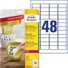 Usuwalne Etykiety Heavy Duty Avery Zweckform, A4, 8 ark./op., 45,7 x 21,2 mm, białe, poliestrowe