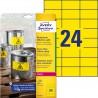 Etykiety Heavy Duty Avery Zweckform, A4, 20 ark./op., 70 x 37 mm, żółte, poliestrowe