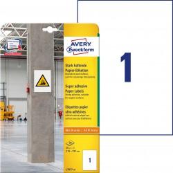 Etykiety papierowe do trudnych powierzchni Avery Zweckform, A4, 20 ark./op., 210 x 297 mm, białe