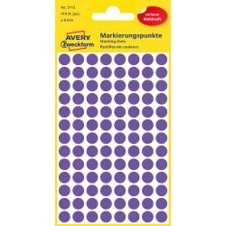 Kolorowe kółka do zaznaczania Avery Zweckform, 416 etyk./op., Ø8 mm, fioletowe