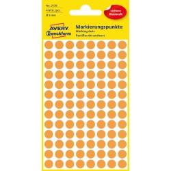 Kolorowe kółka do zaznaczania Avery Zweckform, 416 etyk./op., Ø8 mm, pomarańczowe odblaskowe