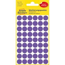 Kolorowe kółka do zaznaczania Avery Zweckform, 270 etyk./op., Ø12 mm, fioletowe