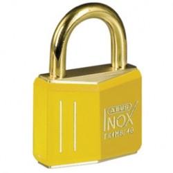 Kłódka mosiężna BRADY, Ex ATEX, żółta, z kabłąkiem 21mm, różne klucze