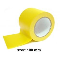 Taśma do oznaczania podłóg, samoprzylepna, żółta o szer: 100mm i dł: 33m