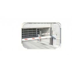 Lustro uniwersalne EUVEX 40 x 60 cm, akrylowe, z białą ramą , z uchwytem do słupka