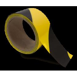 Taśma do oznaczania podłóg, samoprzylepna, żółto-czarna o szer: 50mm i dł: 33m TDP-50x33-YLBK