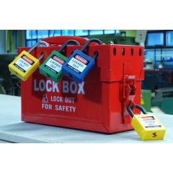 Przenośna skrzynka blokowania grupowego Lock-Box BRADY, czerwona