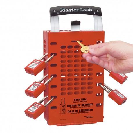 Skrzynka blokowania grupowego Lock-Box Masterlock, przenośna, lub na ścianę