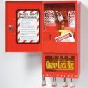 Akcesoria LOTO, Lock-box, tablice, zestawy, tagi, klamry, oznaczenia