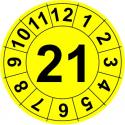 """TYP-1: np. w środku """"21"""" i dookoła 12 miesięcy"""